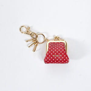Undercover Red Polka Dot Printed Wallet Key Chain