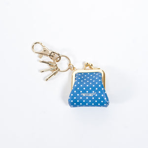 Undercover Blue Polka Dot Printed Wallet Key Chain