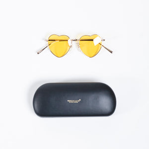 Undercover Orange Heart Shape Sunglasses