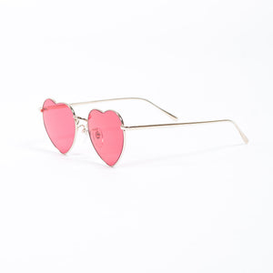 Undercover Red Heart Shape Sunglasses