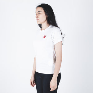 CDG PLAY Red Heart T-shirt White