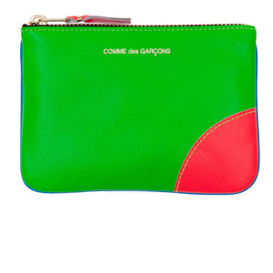 CDG Super Fluo Blue/Green Coin Wallet