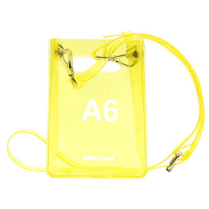 PVC A6 BAG YELLOW