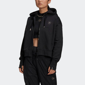 adidas x Stella McCartney Cropped Hoodie Black
