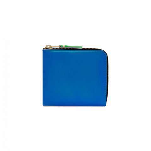 CDG Super Fluo Blue/Green Wallet Card Holder