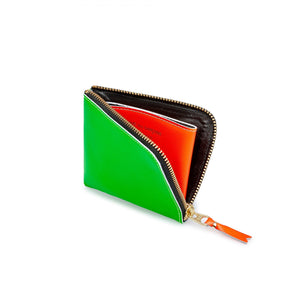 CDG Super Fluo Green/Orange Wallet Card Holder