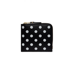 CDG Dot Leather Black Wallet Card Holder