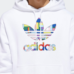 Pride Flag Fill Hoodie White / Multicolor