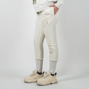 Undercover Off White Ribbed Panel Knife Print Pants
