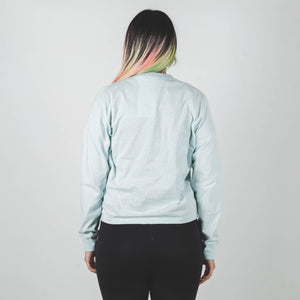 Undercover Pale Blue Optical Dinosaur Long Sleeve Shirt