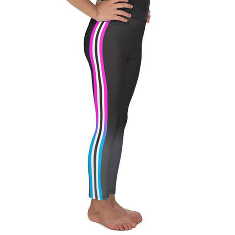 Athletic Stripe (Black Ombre with Pink/Purple)