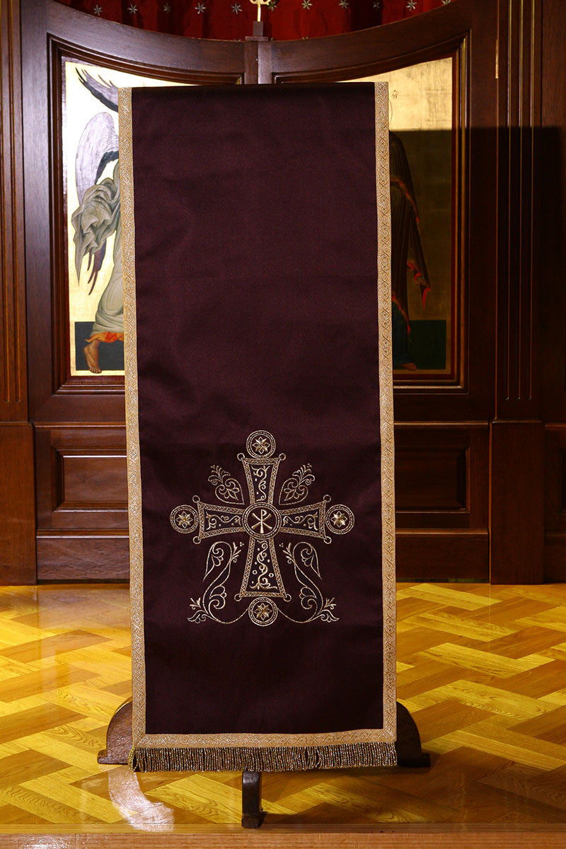 Lenten Icon Stand & Lectern Cover