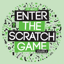 "Load image into Gallery viewer, DJ Hertz – Enter The Scratch Game Volume 3 (12"") - Clear Green"