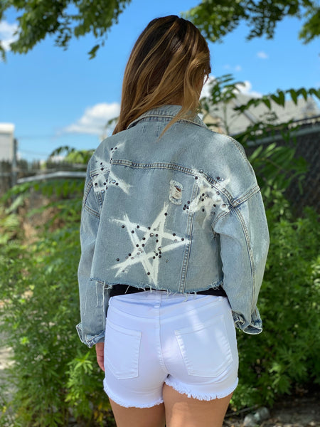 STAR PAINTED JEAN JACKET