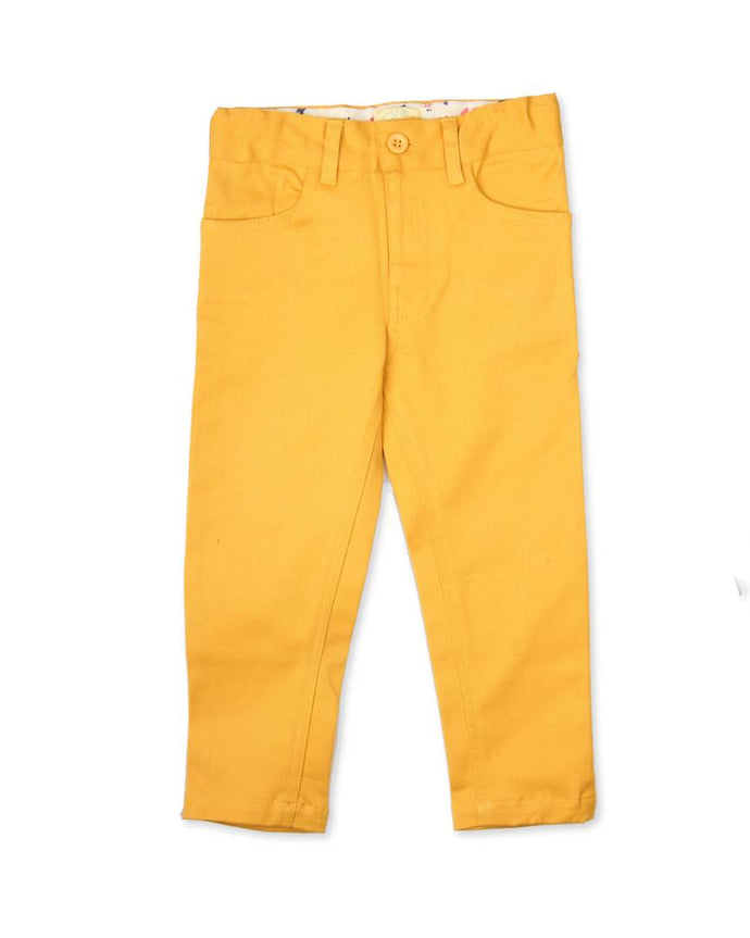 Yellow Color Girls Cotton Twill Pant ( 3-4 Years )