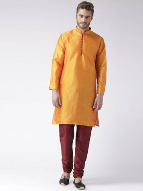 Multicoloured Blended Solid Kurta Sets
