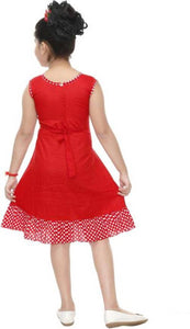RED  COTTON FROCK