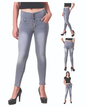 Load image into Gallery viewer, Women High Waist Denim Jeans