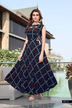 Load image into Gallery viewer, Trendy Multicoloured Rayon Anarkali Kurti
