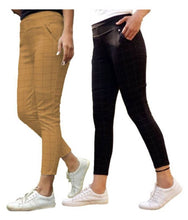 Load image into Gallery viewer, Combo Of 2 Women's Check Pants