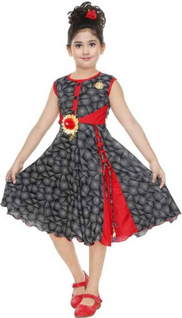 Girls Midi/Knee Length Festive/Wedding Dress