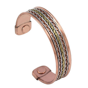 Mix Metal Magnets end, Good Health and relieving Arthritis/Rheumatic Symptoms Open end Free Size Kada for Men
