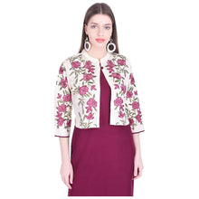 Load image into Gallery viewer, Women Solid Rayon Blend Straight Kurta With Embroidery On Jacket