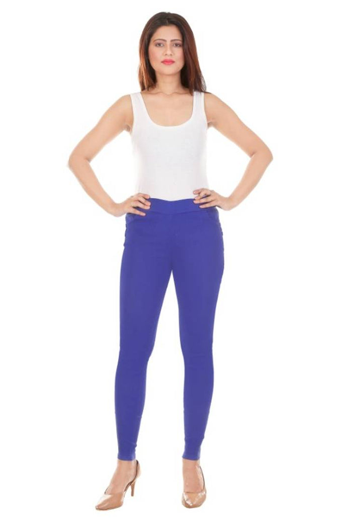 Stylish Cotton Solid Jeggings
