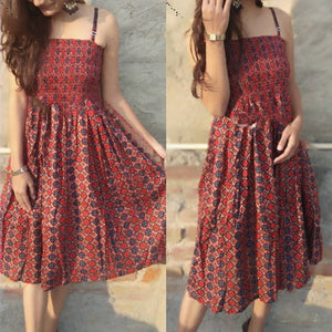 Designer Rayon Cotton Printed Dress For Women