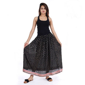 Women's Printed Rayon Ethnic Skirt