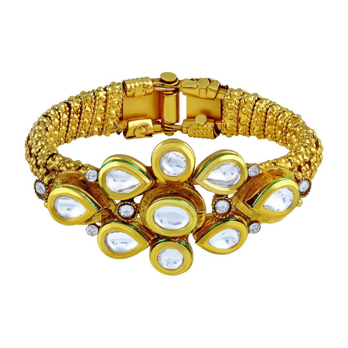 Ethnic Kundan Studded Openable Kada For Women