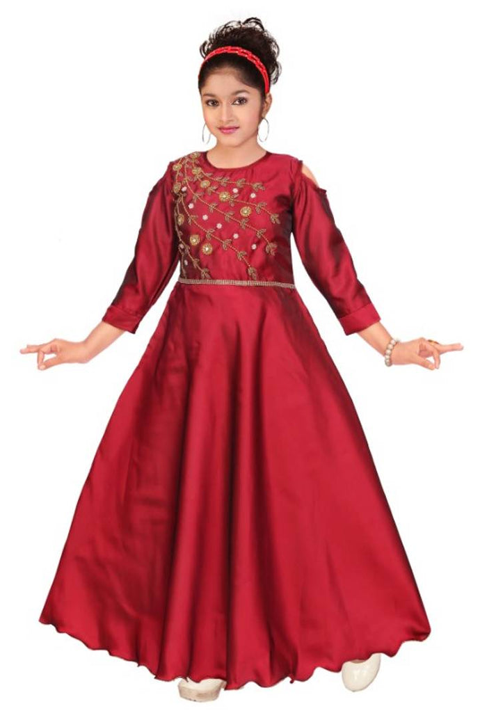Hand work gown for girls