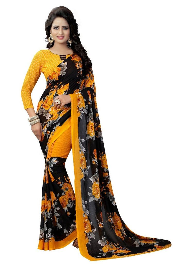 Georgette sarees with blouse