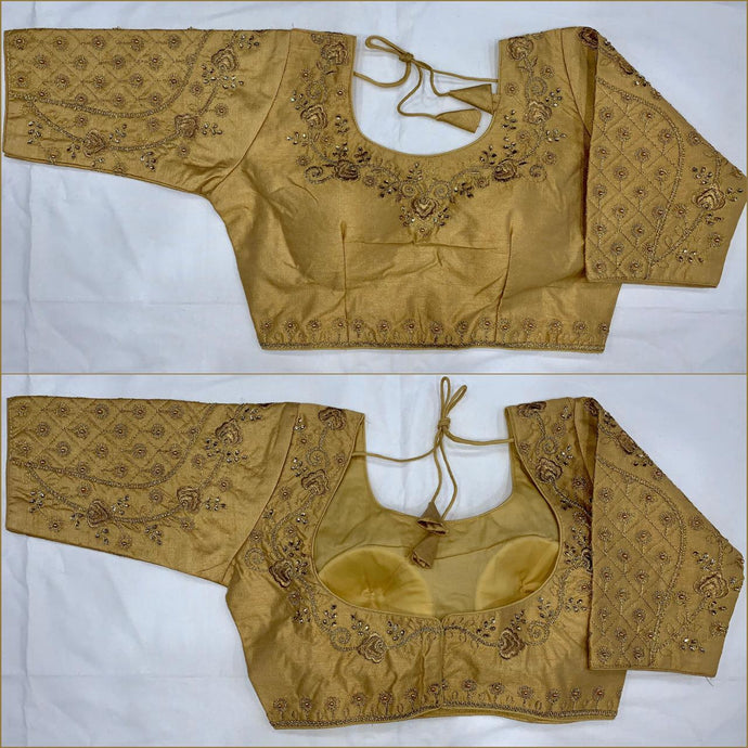 Jari-Moti work on neck and sleeve blouse for all occasions.
