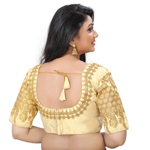 Designer Blouse with embroidery with Damehood.