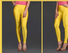 Load image into Gallery viewer, Women's Shinner lycra Leggings in Gold  color