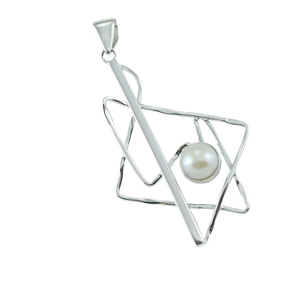 Sterling Silver Pendant with Pearl