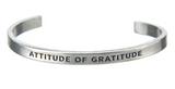 "Quotable Cuff ""Attitude of Gratitude"""