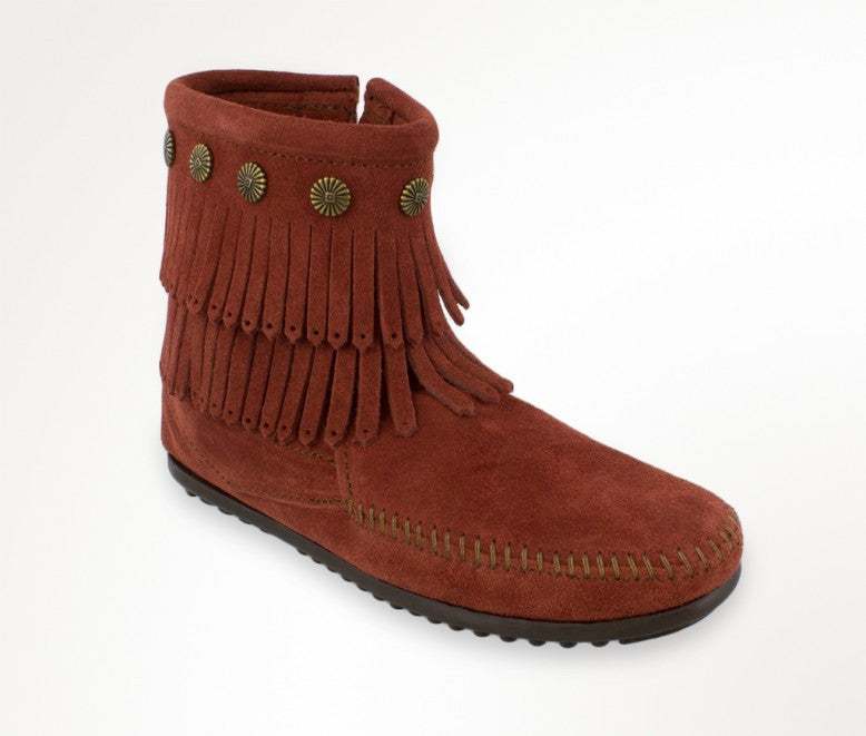 Double Fringe Boot Brandy