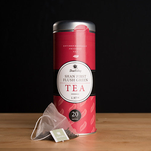 Shan First Flush Green Tea - Tea Bag (Contain 20 Reusable Tea Bags) = 40 servings
