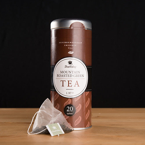 Mountain Roasted Green Tea -Tea Bag (Contain 20 Reusable Tea Bags) = 40 servings