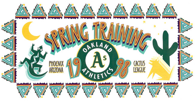 old artwork for Oakland A's Spring Training