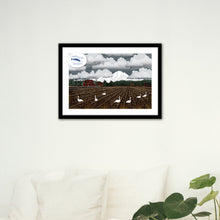 Load image into Gallery viewer, Art Print - Bellingham Mud Swans - Framed Giclee Print