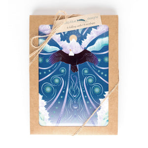 "Greeting Cards - Eagle Rising - six 4x6"" folded art cards with envelopes"