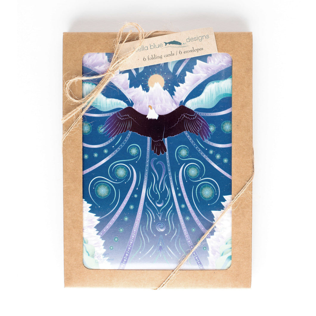 Box Set of six Greeting Cards - Eagle Rising - 4x6