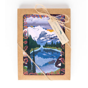 "Greeting Cards - Heather Meadows - six 4x6"" folded art cards with envelopes"
