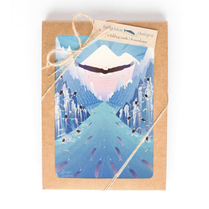 "Greeting Cards - Nooksack River Eagles - six 4x6"" folded art cards with envelopes"