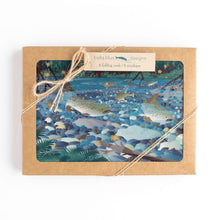 "Load image into Gallery viewer, Box Set of six Greeting Cards - Salmon Creek Magic - 6x4"" folded art cards with envelopes"