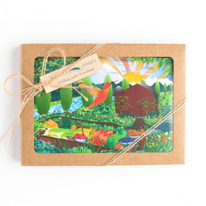 "Greeting Cards - Tulip Farm - six 6x4"" folded art cards with envelopes"