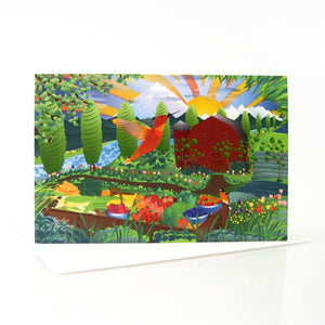 "Greeting Cards - Tulip Farm - 6x4"" folded art card with envelope"
